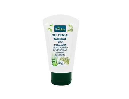 Gel Dental Natural Aloe Melaleuca LiveAloe 70g