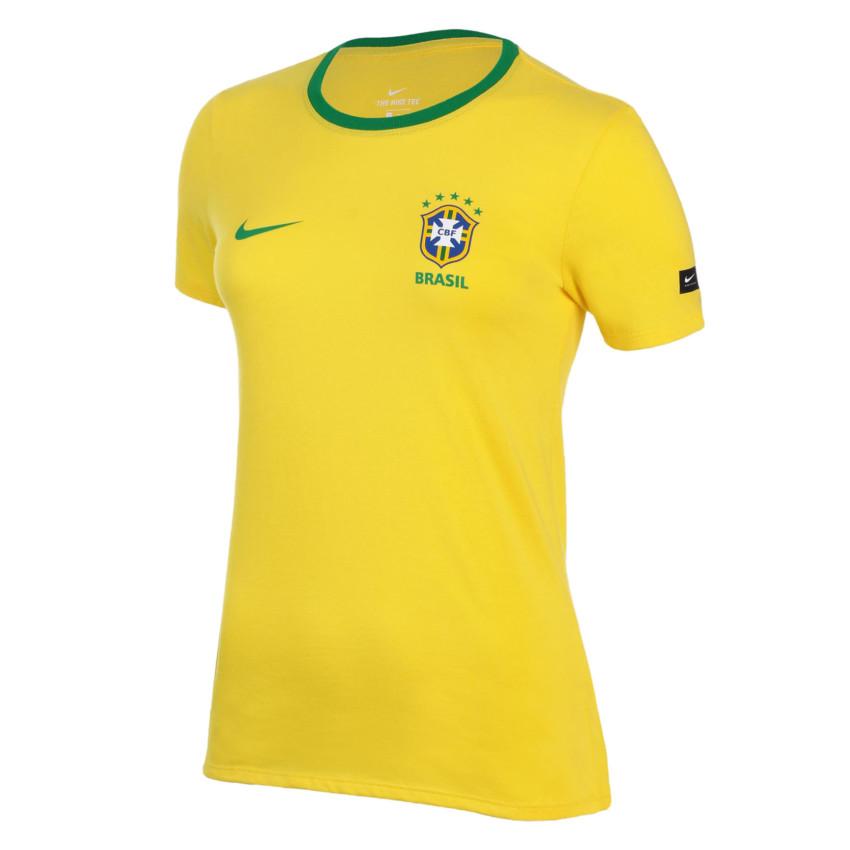 Camisa Nike Brasil CBF Torcedor Feminina- Amarelo AA3129-749 - P ... 1056a8ba03a