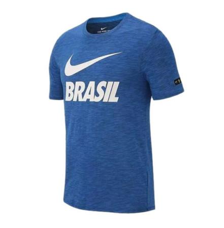 431fe8d216659 Camiseta Nike Masculina Concentração Brasil CBF - Azul 888867-403 - EGG -  Blau Blau Sports