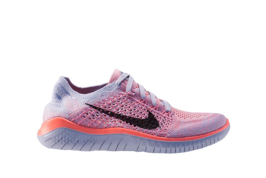 Tênis Nike Free Rn Flyknit 2018 Feminino Rosa 942839 800
