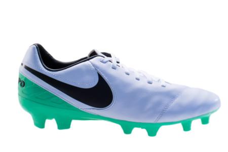 14921aed4a Chuteira Nike Tiempo Mystic V FG-Branco Verde 819236-103 - 44 - Blau Blau  Sports