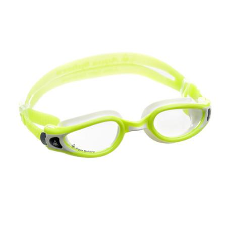 9592400e4 Óculos de Natação Aqua Sphere Kaiman Exo Small Branco e Lima com Lente  Transparente