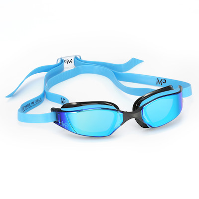 760cda295 Óculos de Natação Michael Phelps XCeed Azul e Preto com Lente Titanium Azul