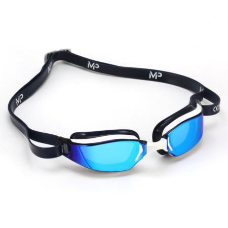 f75ba878a Óculos de Natação Michael Phelps Xceed Branco / Azul - Lente Titanium Azul