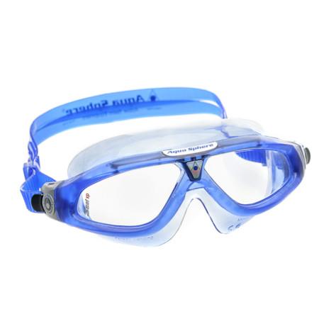 Máscara de Natação Aqua Sphere Seal XP Azul e Prata Lente Transparente 491f894607