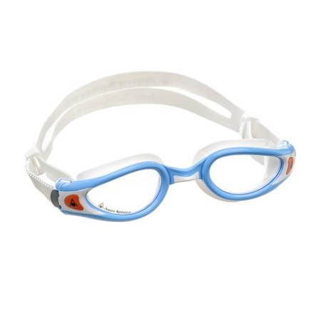 Óculos de Natação Aqua Sphere Kaiman Exo Small Branco e Turquesa com Lente  Transparente 320d9a0318