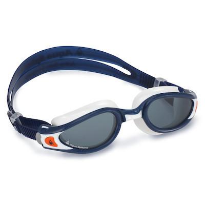 9d5d81ea76b8f Óculos de Natação Aqua Sphere Kaiman Exo Azul e Branco Lente Fumê