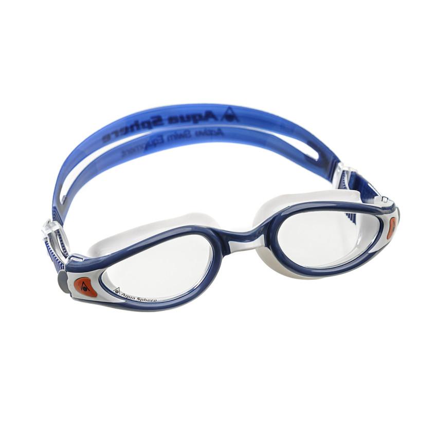 b31301e0d Óculos de Natação Aqua Sphere Kaiman Exo Small Azul e Branco Lente  Transparente