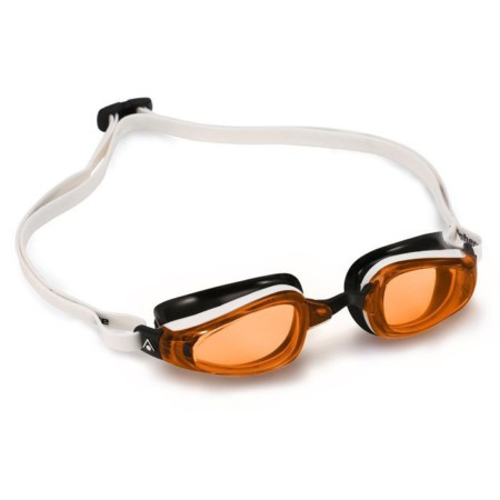 c0bc288a6 Óculos De Natação Michael Phelps K 180 Branco/Preto - Lente Laranja