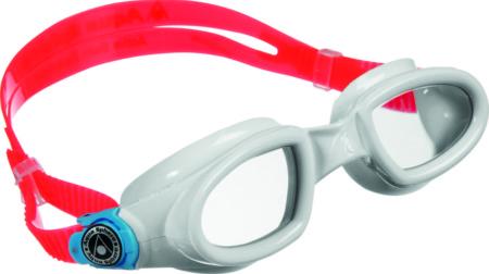Óculos de Natação Aqua Sphere Mako Branco Presilha Azul Lente Transparente b0c92fb857