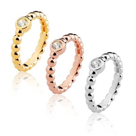 fe3d813e9ee Conjunto trio anéis aliança gomos e zircônia ouro amarelo