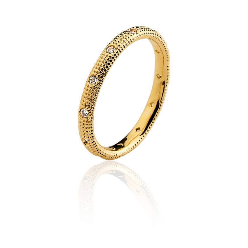 56025b47da26a Anel semi joia fina aliança cravejada reticulada banho ouro 18k. PrevNext