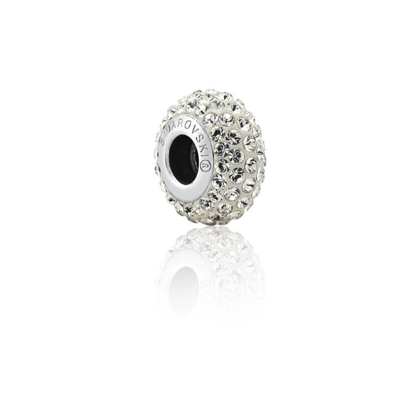 c650cbe9b45 Separador pulseira Sentimentos prata 925 berloque cravejado cristal ...