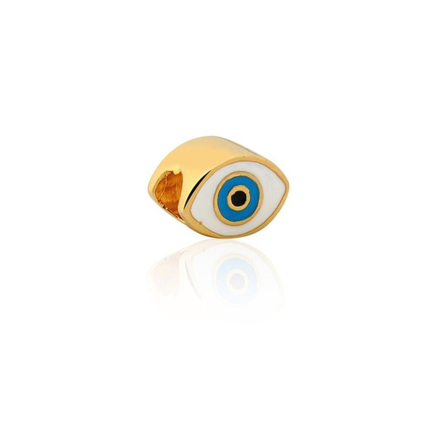 8c1693c4b2cf5 Charm pulseira Sentimentos semijoia fina olho grego