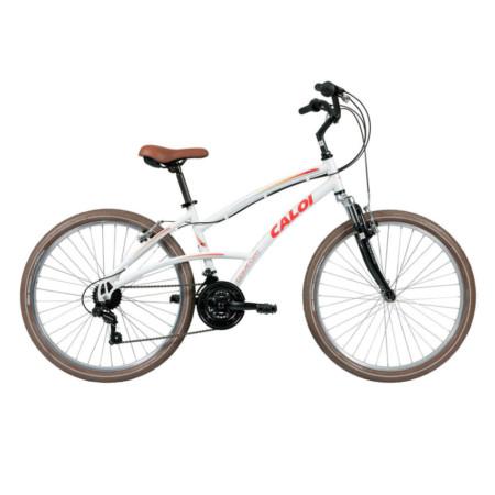 82e55e79e Bicicleta Caloi 400 Aro 26 21 Velocidades Branco