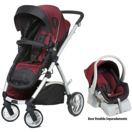 Carrinho de Bebê Passeio Dzieco Maly + Bebê Conforto DI02VI+8180MPV  Preto Vinho 339a3d8aecf