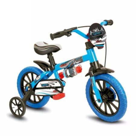 c6bfa07a3 Bicicleta Nathor Aro 12 Masculina Veloz com Selim em PU Azul Preto