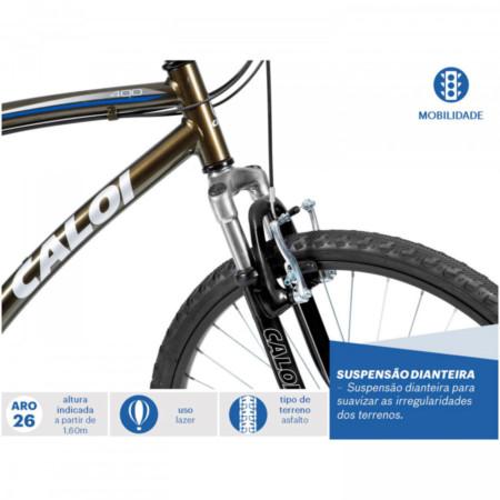 c9a9444b2 Bicicleta Caloi 400 Aro 26 Masculina Comfort 21 Velocidades Verde